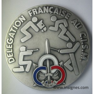 Délégation Française au CISM Médaille de table 70 mm