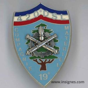 420° DSL Compagnie Matériel 19° Mandat Liban