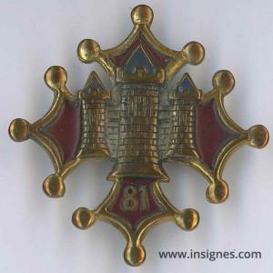81° Régiment d'Infanterie Tours dorées