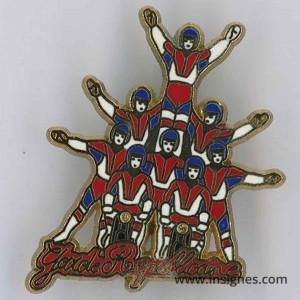 Pin's Garde Républicaine 8 acrobates (lettres rouges)