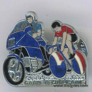 Garde Républicaine Tour de France 1992 translucide rouge