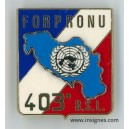 403° BSL FORPRONU Ex-Yougoslavie