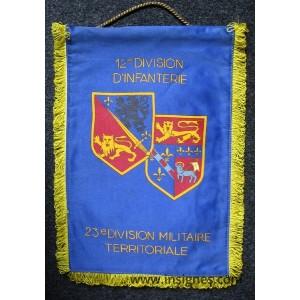 12° Division d'Infanterie 23° DMT Normandie Fanion Tissu