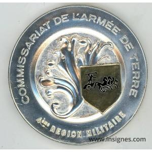 Commissariat de l'Armée de Terre 4° RM Médaille de table 80 mm
