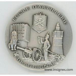 Ecole d'Artillerie Draguignan Médaille de table 65 mm argentée