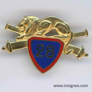 28° Régiment d'Artillerie (lion)