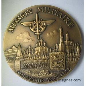 MISSION MILITAIRE Ambassade de FRANCE MOSCOU Médaille de table