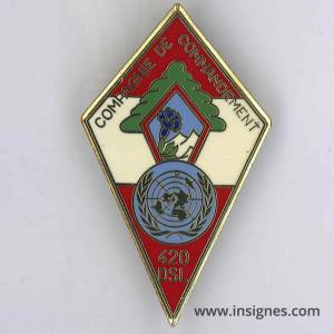 420° DSL Liban Compagnie de Commandement 20° Mandat