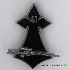 41° Régiment d'Infanterie Hermine fusil FRF1 argenté