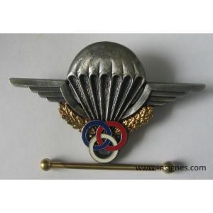 Brevet Parachutiste Moniteur Argenté