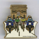 Pin's Gendarmerie Tour France Arc de Triomphe V+J