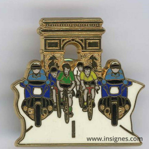 Pin's Gendarmerie Tour France Arc de Triomphe V+J