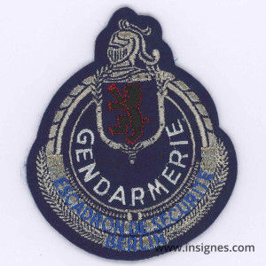 Berlin Escadron de Sécurité Gendarmerie Tissu