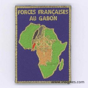 Forces Françaises au Gabon Tissu de manche