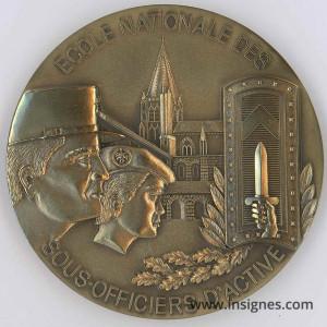 ENSOA Ecole de Saint-Maixent Médaille de table 68 mm