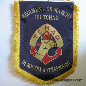 RMT Régiment de Marche du Tchad Fanion tissu