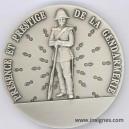 Présence et Prestige SNAAG Médaille de table argentée 65 mm