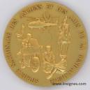 Présence et Prestige SNAAG Médaille de table dorée 65 mm