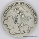 Gendarmerie de l'ISERE Médaille de table 65 mm