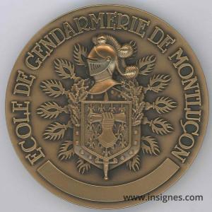 Ecole de Gendarmerie de MONTLUCON Médaille 70 mm