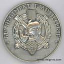 61° Régiment d'Artillerie (diable) Médaille de table Diamètre 72 mm