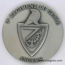 7 eme Régiment du GENIE Médaille de table 70 mm