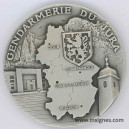 Gendarmerie du JURA Médaille de table 65 mm