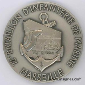 72° BIMA Marseille Médaille de table 65 mm