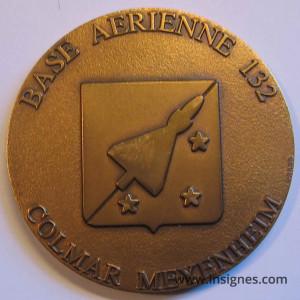 Base Aérienne 132 COLMAR MEYENHEIM Médaille de table 70 mm