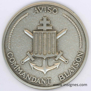 Commandant BLAISON Aviso Fond de coupelle Marine 65 mm