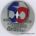 Fédération Sportive Police Nationale 1947 1997 Médaille de table 70 mm