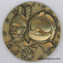 Sapeurs Pompiers superbe médaille Bronze 80 mm