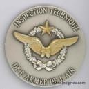 Inspection Technique Armée de l'Air Fond de coupelle argenté Air 68 mm