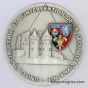 UIISC N°1 Sécurité civile Médaille de 70 mm