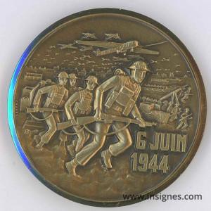 6 Juin 1944 Débarquement Gold Juno Sword Médaille 50 mm