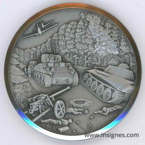 6 Juin 1944 Débarquement Chars Utha Omaha Médaille 50 mm argentée