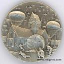 6 Juin 1944 Débarquement Parachutistes Utha Omaha Médaillette 30 mm + boite