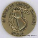 9° Brigade Légére Blindée Médaille de table 65 mm