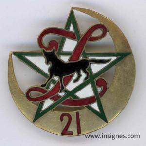 21° régiment de Zouaves Insigne sans marque de fabricant