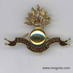 Ecole Spéciale Militaire Insigne de béret Saint Cyr Coetquidan Drago