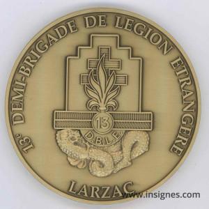 13° DBLE Médaille de table Légion 90 mm Larzac
