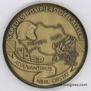 Sapeurs Pompiers de l'ALLIER Médaille de table 65 mm