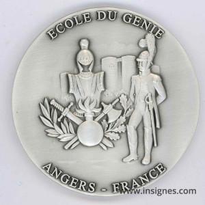 Ecole du Génie ANGERS Médaille de table70 mm