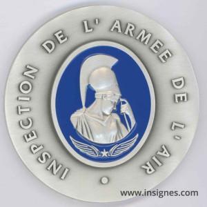 Inspection de l'Armée de l'Air Médaille de table 70 mm