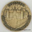Le Général Gouverneur Militaire de METZ Médaille 90 mm