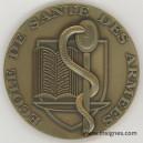 Ecole de Santé des Armées Médaille de table Bronze 70 mm