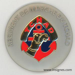 Régiment de Marche du Tchad Médaille de table 70 mm
