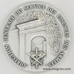 Direction Centrale du Service des Essences des Armées Médaille de table 80 mm