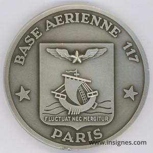 Base Aérienne 117 Paris Médaille de table 65 mm
