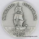 Marine oblige ACORAM Association des Officiers de Réserve Médaille 50 mm argentée